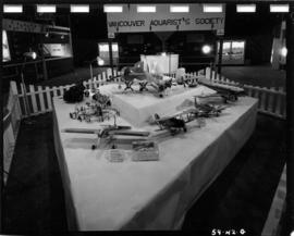 Model airplanes in 1959 P.N.E. Hobby Show