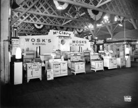 Wosk's display of McClary brand household appliances