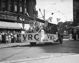 C.P. Exhibition Parade - Vancouver Rowing Club float