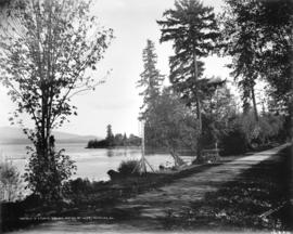 Drive in Stanley Park and portion of inlet, Vancouver, B.C.