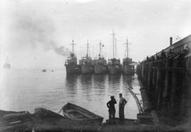 U.S. Destroyers, C.P.R. [Canadian Pacific Railway] dock