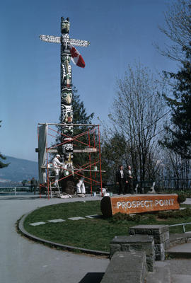Prospect Point [totem] pole paint job