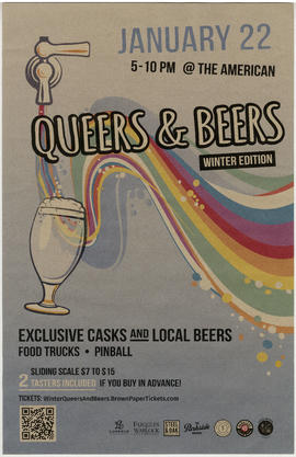 Queers and beers : winter edition : January 22 at the American