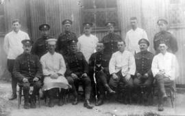 """B"" Company Sergeants Mess Staff [and 6th Field Engineers from North Vancouver]"