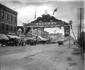 Chinese arch on Hastings Street for the visit of the Duke of Connaught