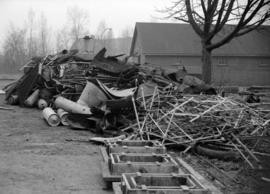 [Collection of scrap metal saved as part of the war effort]