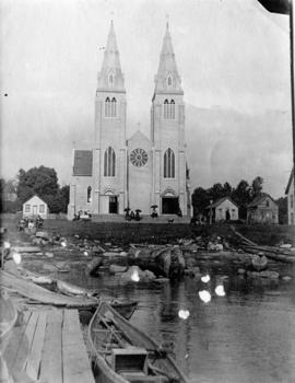 View of St. Paul's Indian Mission Church from the water