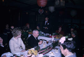 Inauguration lunch at Trader Vic's, Mayor [Rathie] reading