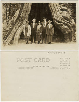 [Group at Hollow Tree, Stanley Park]