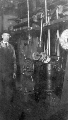 [J. W. Whitworth at work as Chief Engineer No. 3 Ferry]