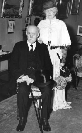 [Mr. and Mrs. Jonathan Rogers in costume for a rededication of Stanley Park]