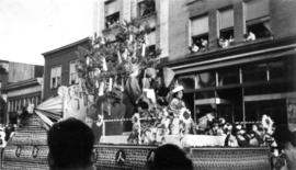 A Japanese float in a parade to celebrate the Coronation