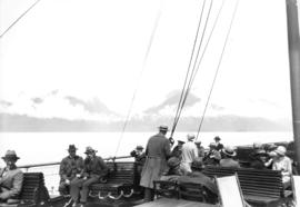 P.G.E. [Pacific Great Eastern] first trip to Alta Lake [on steamship to Squamish]