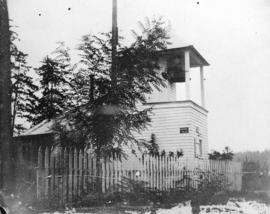[The first lighthouse at Brockton Point]