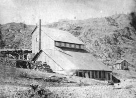"[The ""Stemwinder"" gold mine building]"