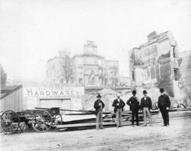 [T.J. Trapp and Company Hardware on Front Street after the fire]