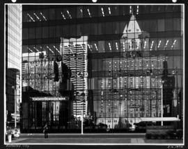 Reflected city [in the Toronto Dominion Bank building windows]