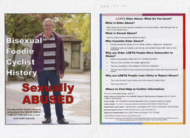 Bisexual, foodie, cyclist, history : sexually abused : for help call the Seniors Abuse and Inform...