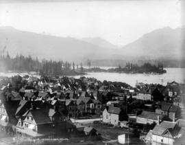 Entrance to harbor, Vancouver [View of Deadman's Island and Brockton Point]