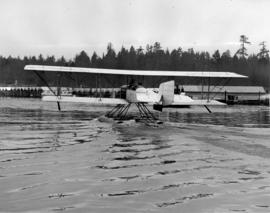 [Replica Boeing B&W-1 float plane on Coal Harbour]