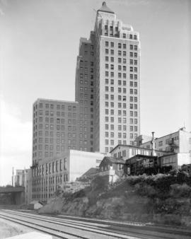 [The Marine Building and former bunkhouse for Spratt's Oilery]