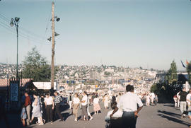 [View of the midway at the P.N.E. at Hastings Park]