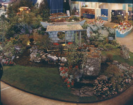 Japanese-themed horticultural exhibit in Pacific Showmart building