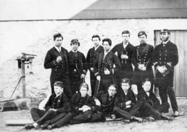Amateur Group of Officers in Uniform