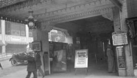 [The entrance to Marcus Loew's  Empress Theatre]