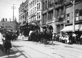 [Parade on 300 block of West Hastings Street]