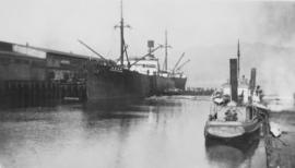 "[S.S. ""Vancouver Maru"" at dock]"