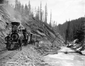 Carpenter Creek Canyon, K & S R[ailway] near Sandon, B.C.