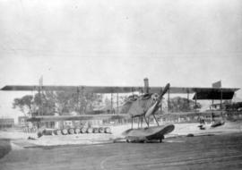 [A hydroplane prior to a test flight]