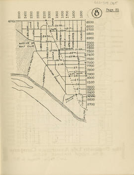 Sectional map and street directory of Vancouver, British Columbia : [Granville Street to Forty-ni...