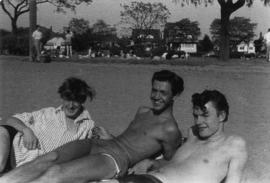 Bill Lepert and Lynne West : summer 1955 at Kits Beach