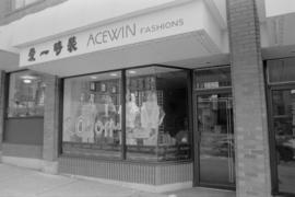 Storefront of Acewin Fashions, a new business in Vancouver Chinatown