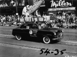 CKNW decorated car in 1954 P.N.E. Opening Day Parade
