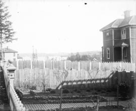 [Back yards of houses, Victoria, B.C.]