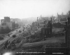 Columbia Street - Great Westmister Fire, Sept 11th, 1898