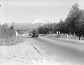 Highway near Langley - Mt. Baker [in background]