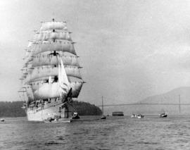 "Japanese Barque ""Nippon Maru"" entering First Narrows"