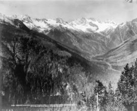 Rogers Pass and Hermit Range from Observation Point, Glacier, B.C.