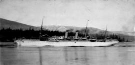 "[Canadian Pacific Railway R.M.S. ""Empress of Japan"" passing out of First Narrows]"