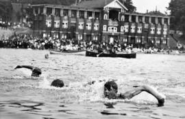 [A men's swimming race at English Bay]