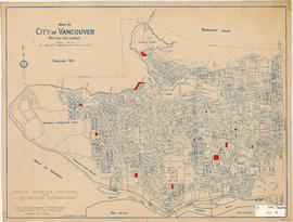 Map of City of Vancouver, British Columbia [Sketch showing location of supervised playgrounds]