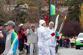 BC, Day 1, October 30 2009, Torchbearer, Torchbearer 002 Simon Whitfield, Torchbearer 037 Craig L...