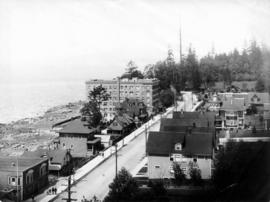 Part of sea front, Vancouver, looking towards Stanley Park