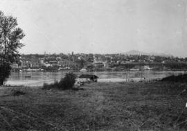 [View of New Westminster from across the Fraser River]