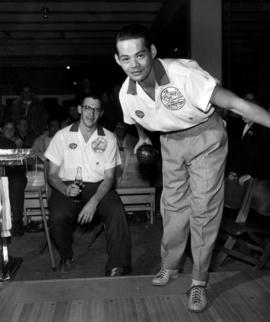Contestant in 1959 P.N.E. bowling championships