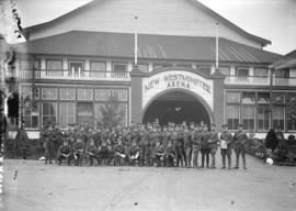 Group of 85th Canadian Field Artillery [at New Westminster arena]